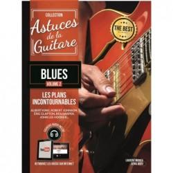Partition ASTUCES DE LA GUITARE BLUES VOL.2 (+CD)