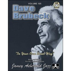 AEBERSOLD VOL.105 - DAVE BRUBECK IN YOUR OWN SWEET WAY (+CD)