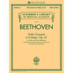 Partition VIOLIN CONCERTO IN D MAJOR OP. 61 Ludwig van Beethoven