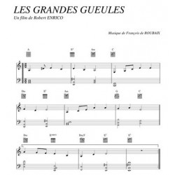 Partition LES GRANDES GUEULES François de ROUBAIX