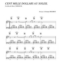 Partition CENT MILLE DOLLARS AU SOLEIL Georges Delerue