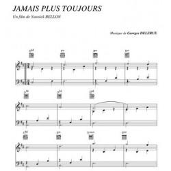 Partition JAMAIS PLUS TOUJOURS Georges Delerue