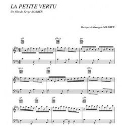 Partition LA PETITE VERTU Georges Delerue