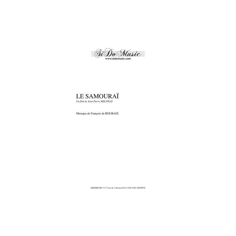 Partition LE SAMOURAÏ François de ROUBAIX