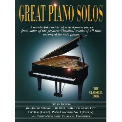 GREAT PIANO SOLOS THE CLASSICAL BOOK