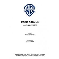 Partition PARIS CIRCUS LEMARQUE Francis