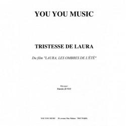 Partition TRISTESSE DE LAURA JUVET Patrick
