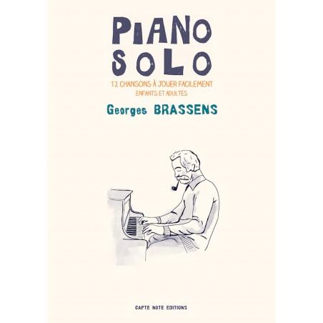 PIANO SOLO GEORGES BRASSENS