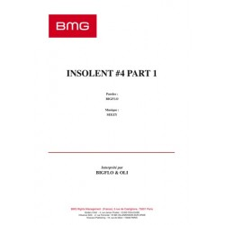 Sheet music INSOLENT 4 PART 1 BIGFLO ET OLI