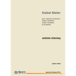 Partition STABAT MATER Antoine MIANNAY