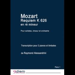 Partition REQUIEM K 626 EN RÉ MINEUR (MATÉRIEL) Raymond ALESSANDRINI