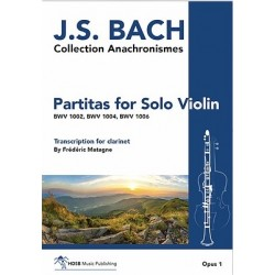 BACH for Solo Violin Opus 1 Transcription Clarinet