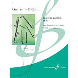 Partition LA PETITE AUDITION EN UT Guillaume DRUEL