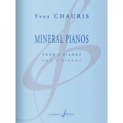 Partition MINERAL PIANOS Yves CHAURIS