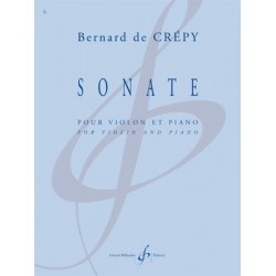 Partition SONATE Bernard DE CREPY