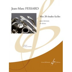 Partition MES 20 ETUDES FACILES Jean-Marc FESSARD