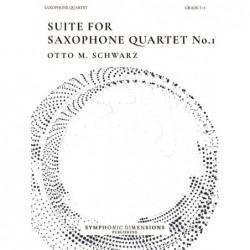Parties séparées SUITE FOR SAXOPHONE QUARTET NO. 1 Otto M. Schwarz