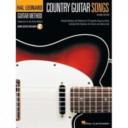 Receui et audio en ligne COUNTRY GUITAR SONGS - 2ND EDITION Divers Artistes