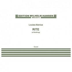 Score RITE (OF NOTHING) Louise Alenius