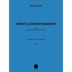 Score SPORTS ET DIVERTISSEMENTS - EXTRAITS Erik Satie