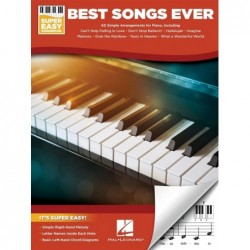 Songbook BEST SONGS EVER - SUPER EASY PIANO Divers Artistes