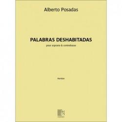 Songbook PALABRAS DESHABITADAS Alberto Posadas