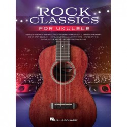 Songbook ROCK CLASSICS FOR UKULELE Divers Artistes