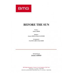Sheet music BEFORE THE SUN Jeanne Added