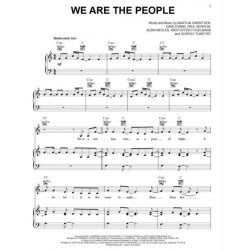 Partition WE ARE THE PEOPLE Martin Garrix & U2