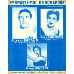 Sheet music EMBRASSE-MOI...OH MON AMOUR GILBERT BECAUD