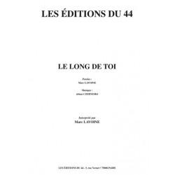 Partition LE LONG DE TOI Marc LAVOINE