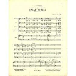 Sheet music SALVE REGINA Albert ALAIN