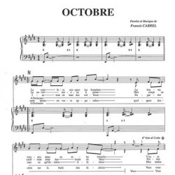 Partition octobre Francis CABREL