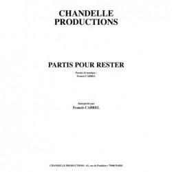 Partition PARTIS POUR RESTER Francis CABREL