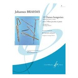 Partition 13 DANSES HONGROISES CAHIER 1 Johannes BRAHMS