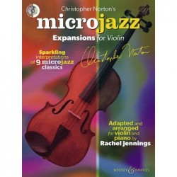 Partition MICROJAZZ EXPANSIONS FOR VIOLIN NORTON Christopher
