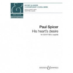 Partition HIS HEART'S DESIRE SPICER Paul