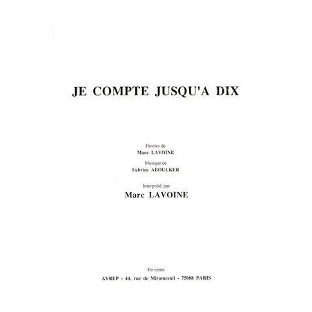 JE COMPTE JUSQU'À DIX