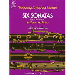 SIX SONATAS FOR FLUTE AND PIANO