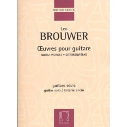 LEO BROUWER ŒUVRES POUR GUITARE