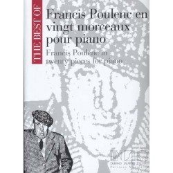 Partition THE BEST OF FRANCIS POULENC Francis Poulenc